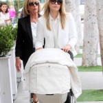 Ali Larter Lunches With her Baby Girl