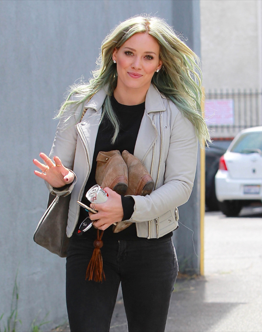 Hilary Duff Heads To A Dance Studio