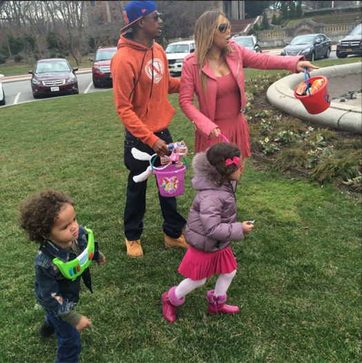Mariah Carey Family Easter