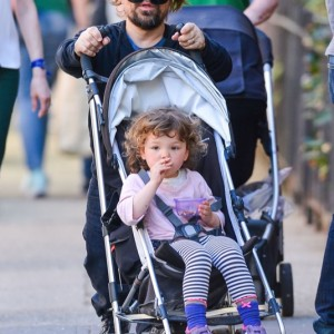 Peter Dinklage Out For A Walk With His Daughter