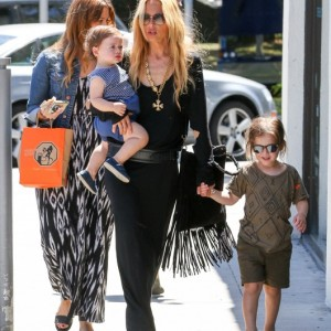 Rachel Zoe Takes Her Boys To Lunch