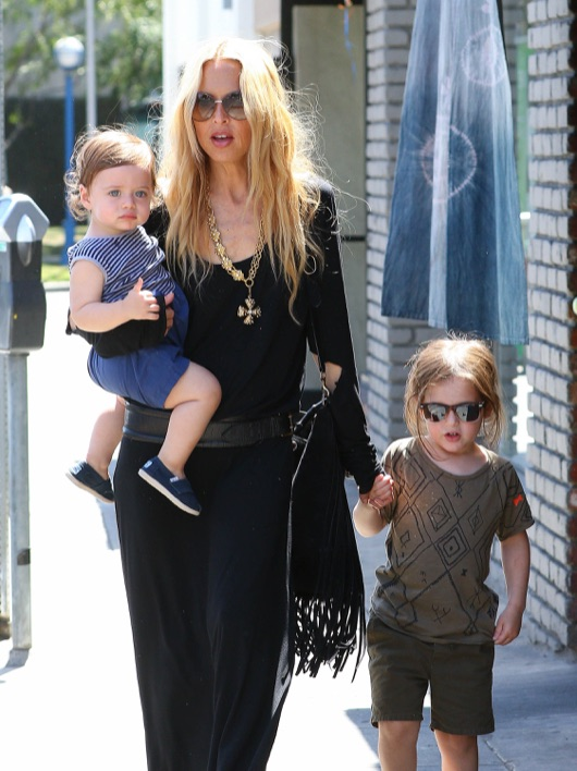 Rachel Zoe Takes Her Boys To Lunch