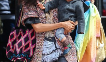 Thandie Newton Enjoys Day Out With Booker