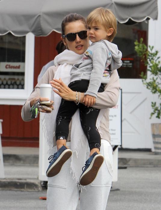 Alessandra Ambrosio Takes Noah To Breakfast