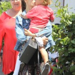 Alessandra Ambrosio Gives Noah Kisses