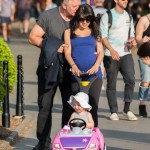 Alec Baldwin & Hilaria Thomas Take a Stroll With Carmen
