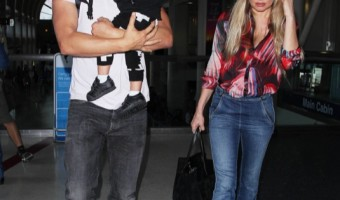 Josh Duhamel & Fergie Touch Down With Axl