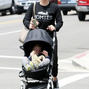 Hilary Duff & Son Luca Out Running Errands