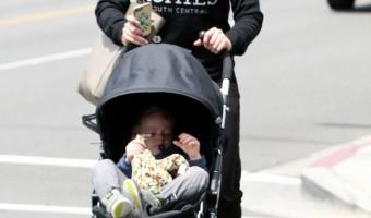 Hilary Duff & Son Luca Out Running Errands