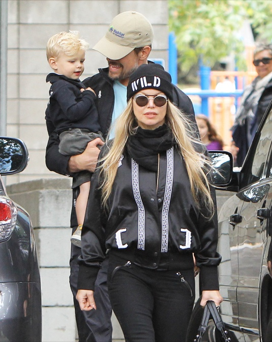 Fergie & Josh Duhamel Take Axl To The Park