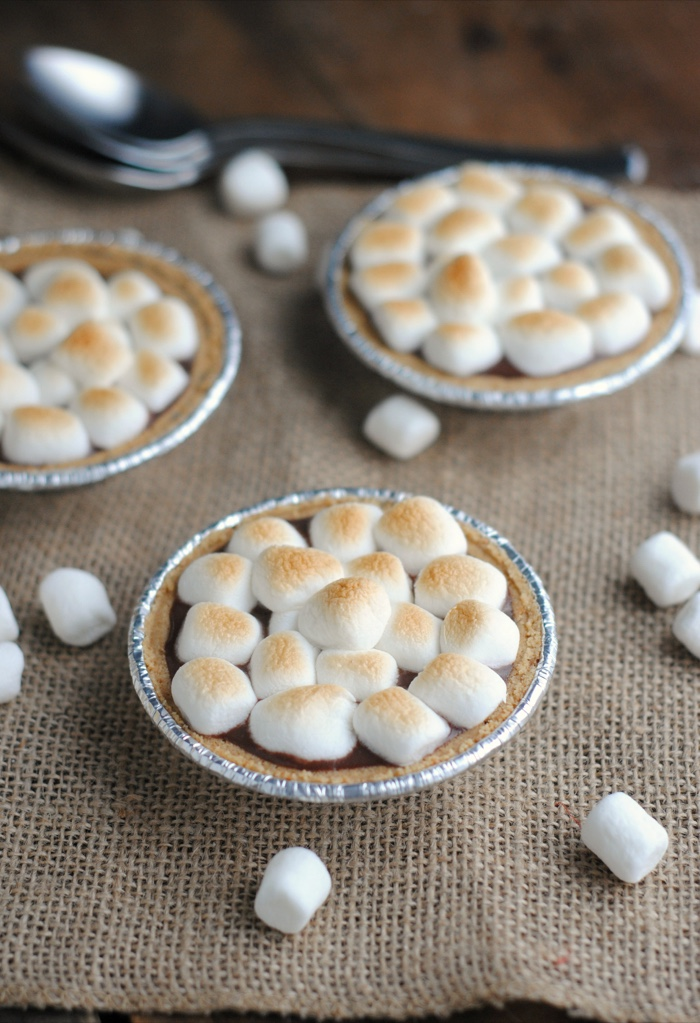 Bring the Camping Home With Mini S'mores Pies