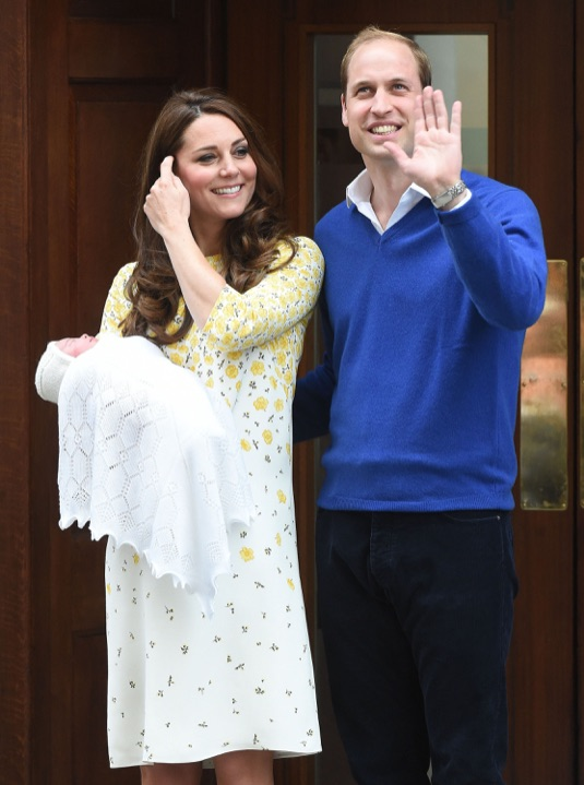 The Duke And Duchess Outside The Lindo Wing With Their Newborn Daughter