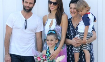 Alessandra Ambrosio & Family Out For Lunch In Brentwood