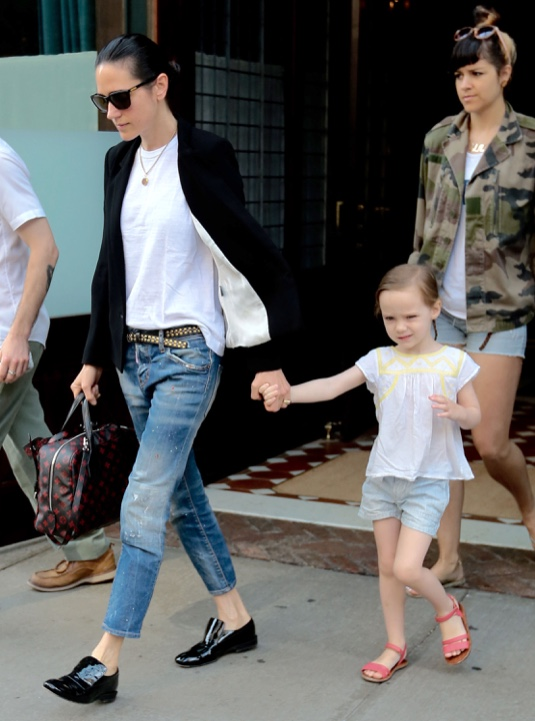 Jennifer Connelly & Family Step Out In New York