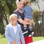 Gwen Stefani Visits Church With her Boys