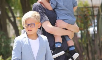 Gwen Stefani Goes To Church With Her Family