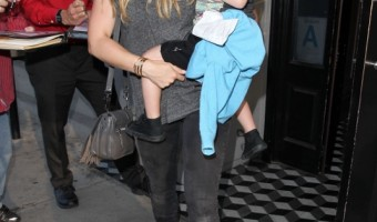 Hilary Duff & Mike Comrie Take Luca Out For An Early Dinner
