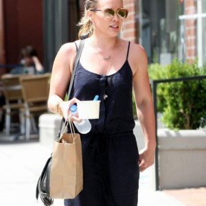 Hilary Duff Out In Beverly Hills With Her Son