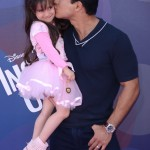 Mario Lopez Gives Gia Daddy Kisses at the Inside Out Premiere