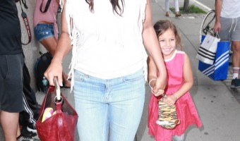 Padma Lakshmi & Her Daughter Out For A Stroll In NYC