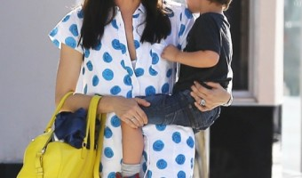 Selma Blair Goes Shopping With Arthur