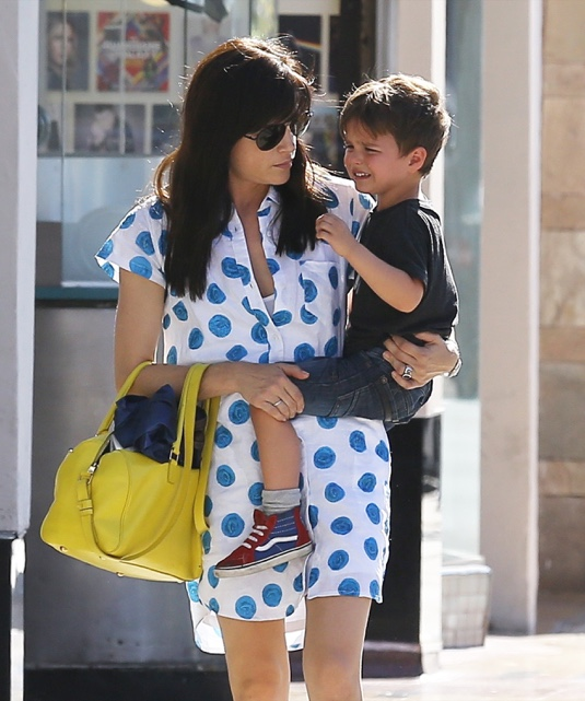 Exclusive... Selma Blair Shopping In Studio City With Her Son