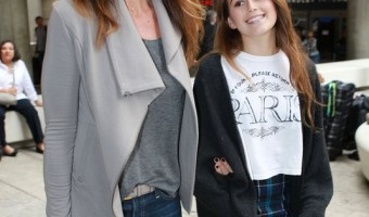 Cindy Crawford and Daughter Kaia Arriving On A Flight At LAX