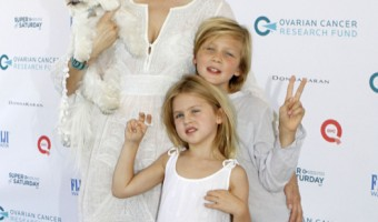 Kelly Rutherford Enjoys Saturday With her Kids at Charity Event