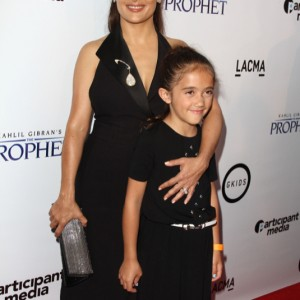 Salma Hayek and Daughter Valentina at Kahlil Gibran THE PROPHET Premiere in LA