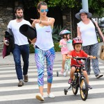 Alessandra Ambrosio Takes her Bike Riders to Lunch
