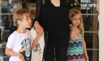 Angelina Jolie Shops With her Twins