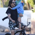 Anthony Kiedis & Everly Go For a Bike Ride