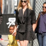 Charlize Theron Leaves Jimmy Kimmel Live! With Jackson