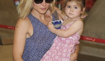 Elsa Pataky & Family Jet Out of Madrid