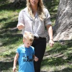 Hilary Duff Enjoys A Park Day With Luca