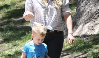 Hilary Duff Enjoys A Park Day With Luca