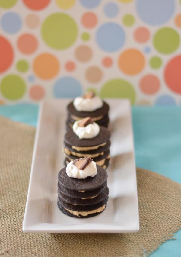 Mini Peanut Butter Chocolate Icebox Cakes
