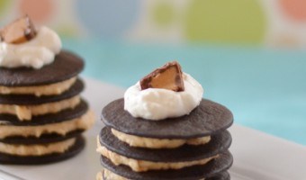 Mini Peanut Butter Chocolate Icebox Cakes