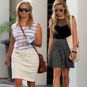 Reese Witherspoon & Daughter Ava Leaving Her Office