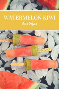 Refreshing Watermelon Kiwi Ice Pops