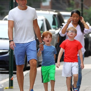 Exclusive... Will Arnett Takes His Sons Out For Dinner