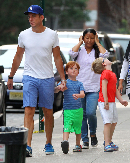 Exclusive Will Arnett Takes His Sons Out For Dinner