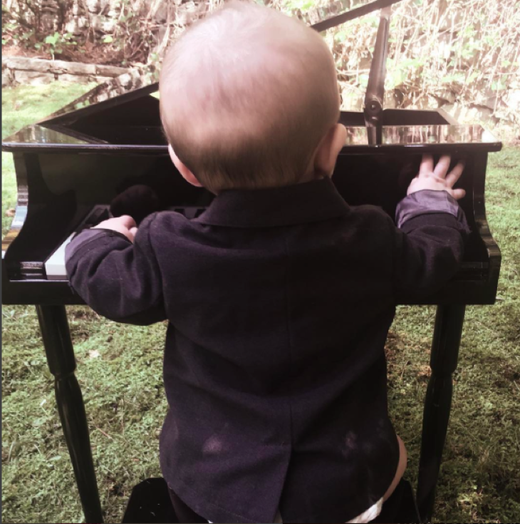 Carrie Underwood Shares Adorable Picture Of 6 Month Old Baby Isaiah Playing The Piano – Loves Music Like His Mom!