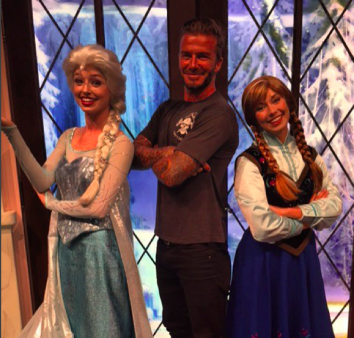 David Beckham, Victoria Beckham and The Beckham Kids Spend The Day At Disneyland
