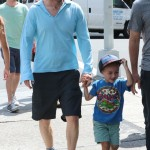 Owen Wilson & His Adorable Son Robert Hanging Out In NYC