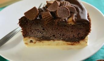 Chocolate Peanut Butter Ice Cream Cake