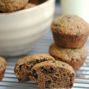 Zucchini Chocolate Chip Muffins - Chocolate and Vegetables in One Treat
