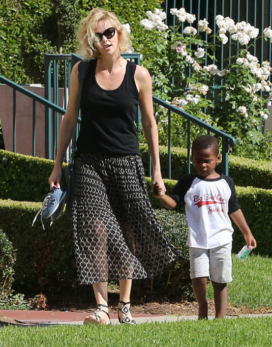 Charlize Theron And Son Jackson Leaving A Play Date