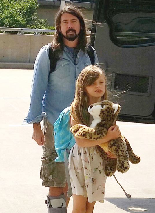 Dave Grohl & Daughter Departing Washington DC