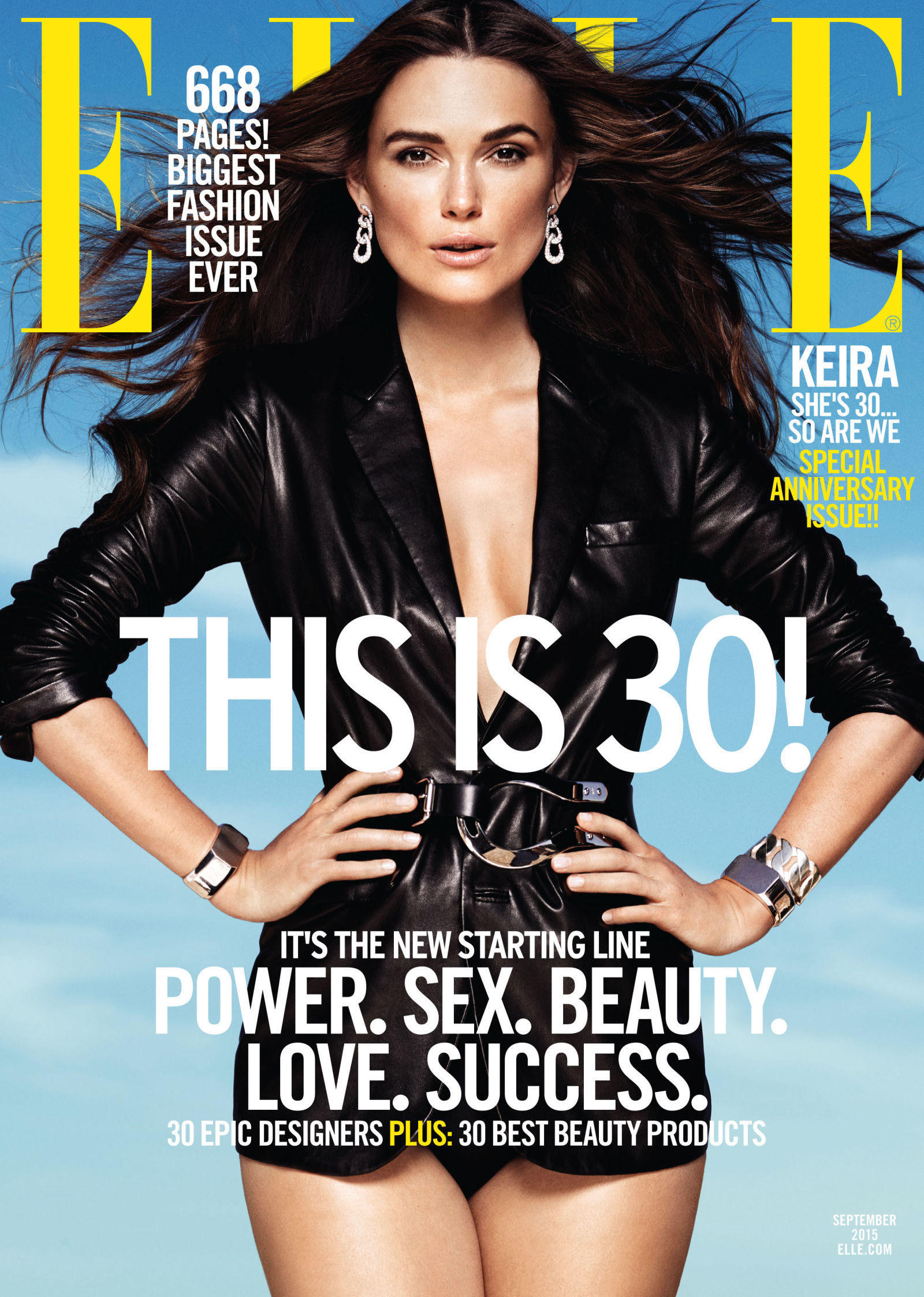 Keira Knightley on The Cover of Elle